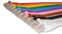 CAT 5e and CAT 6 Custom Patch Leads manufactured in the UK by Cable Master Europe
